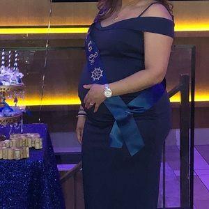 Navy Blue Maternity Dress